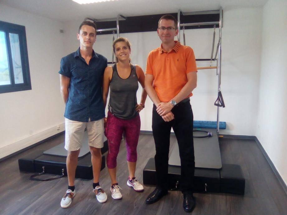 Une équipe de spécialistes pour reprendre sa santé en main. Ci-dessus, Sébastien Le Garf, Ophélie Villard et Christian Anty.