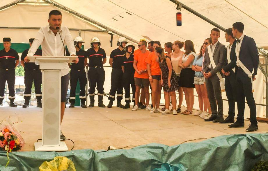 Alexis Ingargiolas, président du COF pendant son discours.