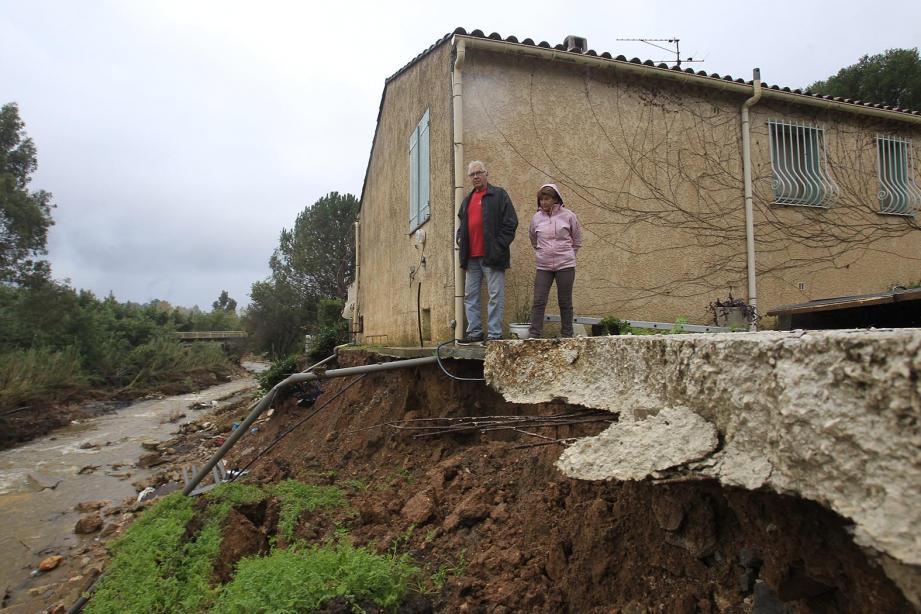 Les inondations à La Londe, en 2014