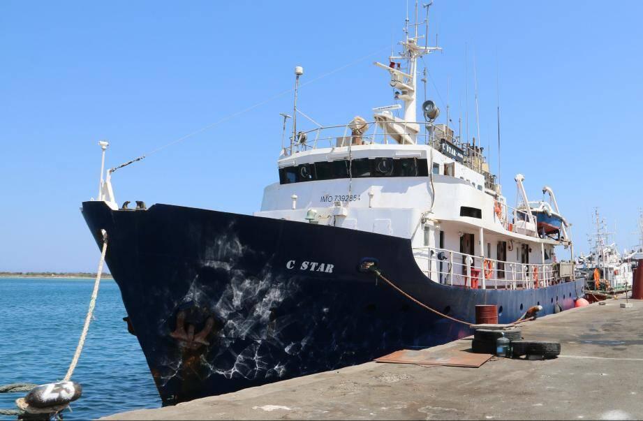 Le C-Star, lors d'une escale à Chypre le 27 juillet.