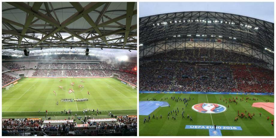 L'Allianz Riviera et le Stade Vélodrome