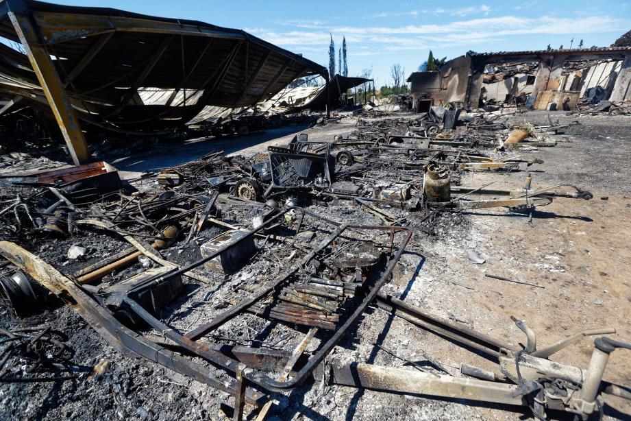 Jérôme Massolini, propriétaire du gardiennage de caravanes à La Londe-les-Maures, a perdu 20 ans de vie lors de l'incendie.