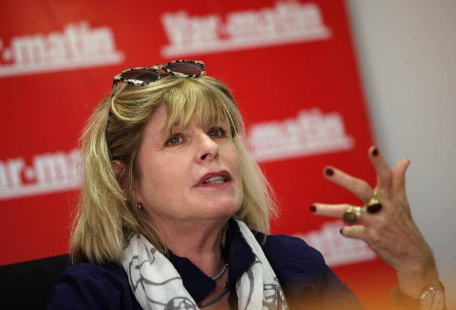 Toulon, le 22 mai 2014: L'ecrivain Katherine Pancol, discute avec ses lectrices lors d'un