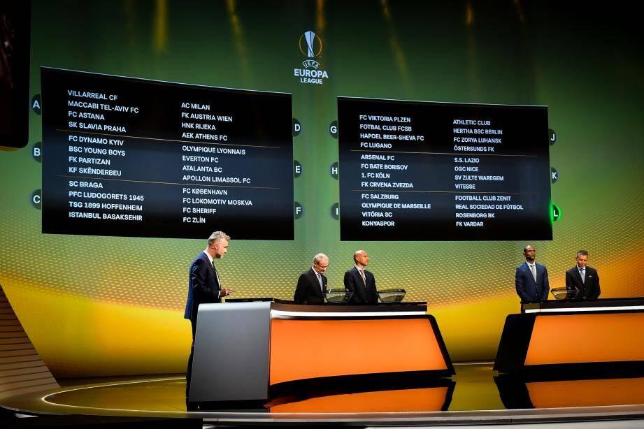 Le tirage au sort de la phase de groupes de la Ligue Europa
