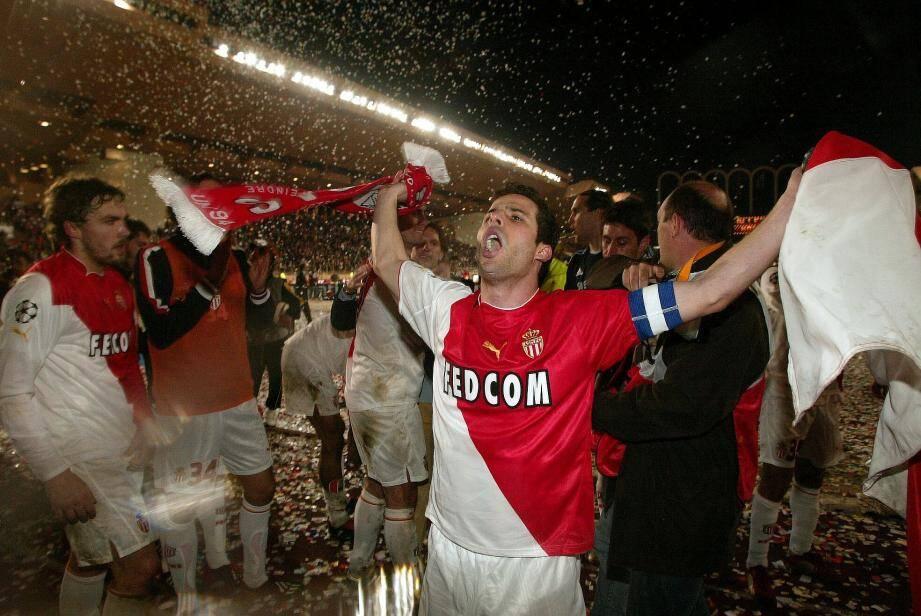 Ludovic Giuly lors de la victoire des Monégasques contre le Real Madrid en 2004