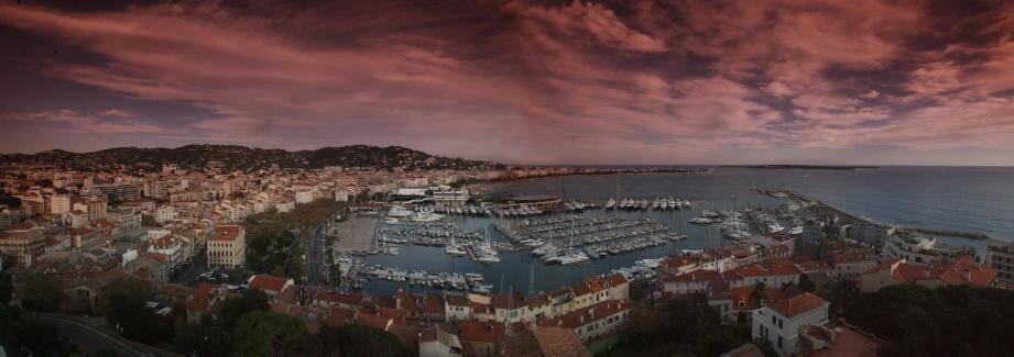 Une magnifique vue de Cannes.