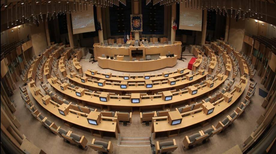 L'hémicycle du conseil régional PACA.