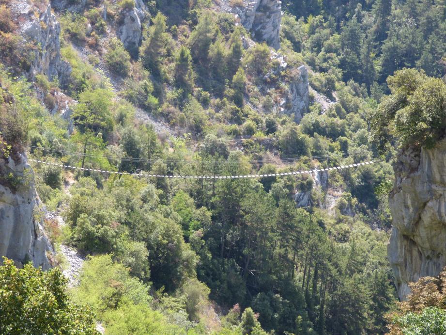La via ferrata de Peille est fermée depuis le mois de juin.