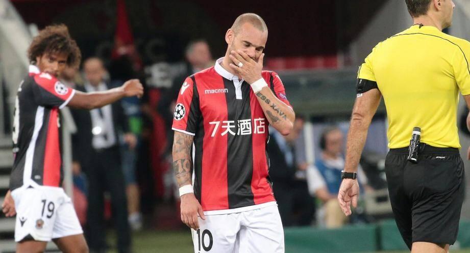 Wesley Sneijder n'a pas pesé.