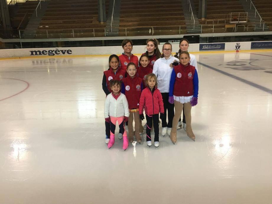 Les patineurs du Scom ont retrouvé les sensations de glisse sur la glace de Megève.(DR)