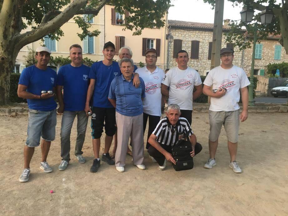 Vainqueurs et finalistes à Saint-Cézaire-sur-Siagne.