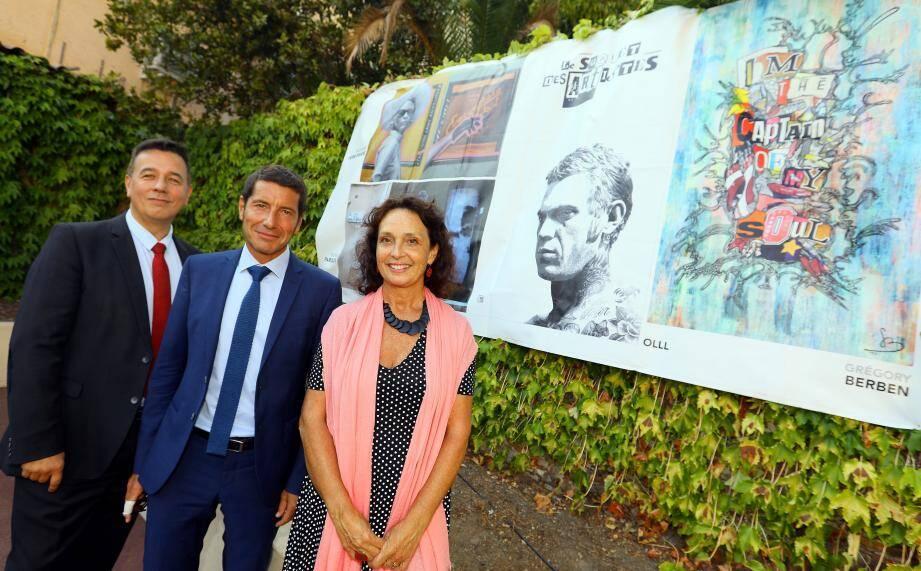 Le recteur Emmanuel Ethis, le maire David Lisnard et Isabelle Milliès (DRAC), tous unis pour que l'éducation artistique et culturelle à Cannes devienne un exemple au niveau national.