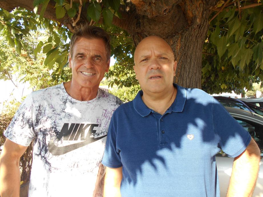 Un binôme de choc : Bruno De Santis et Alain Caymaris (de gauche à droite).