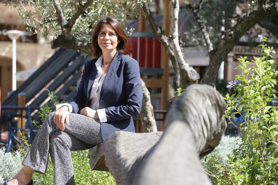 Béatrice Fresko-Rolfo, hier après-midi sur la place d'Armes. Une première dans ses habits de chef de file d'Horizon Monaco.