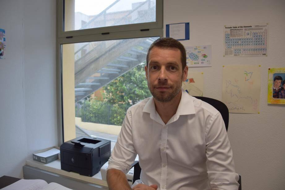 Xavier Fernandez, patron de l'antenne grassoise de l'université de Nice-Sophia-Antipolis.