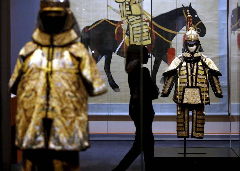 L'exposition présentait quelque 200 pièces issues des collections de la Cité Interdite de Pékin, et qui sortent rarement de Chine.