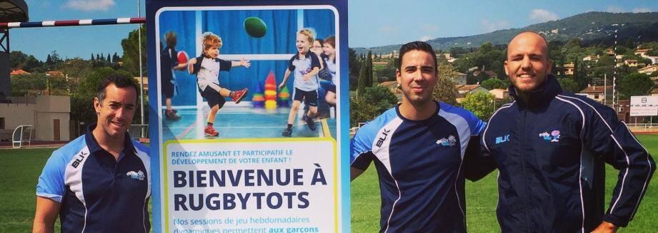 Josselin Lapierre, Jocelyn Larrequie, les éducateurs qui s'occupent des touts petits au rugbytots .