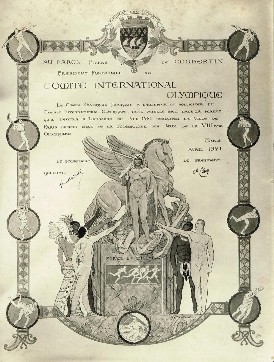La photo originale du document est exposée au CIAC et au musée du Sport de Nice. (D.R. collection Hervé Dubois)