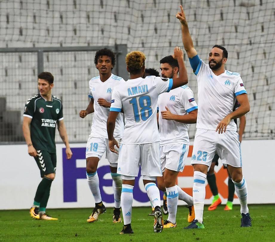 Rami, unique buteur hier contre Konyaspor, a libéré l'OM.