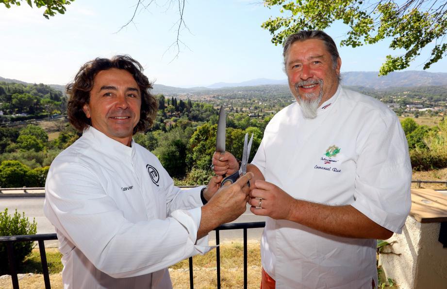 Xavier Malandran et Emmanuel Ruz se surnomment les « deux seuls chefs aux cheveux longs de la Côte d'Azur ».