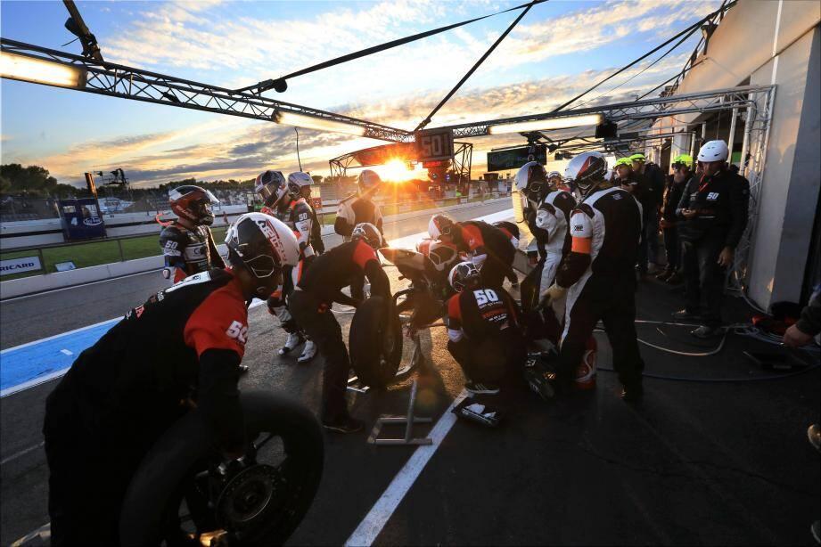 Le team d'Hervé Moineau a changé de marque. C'est désormais une Honda qui porte le numéro 50 fétiche.