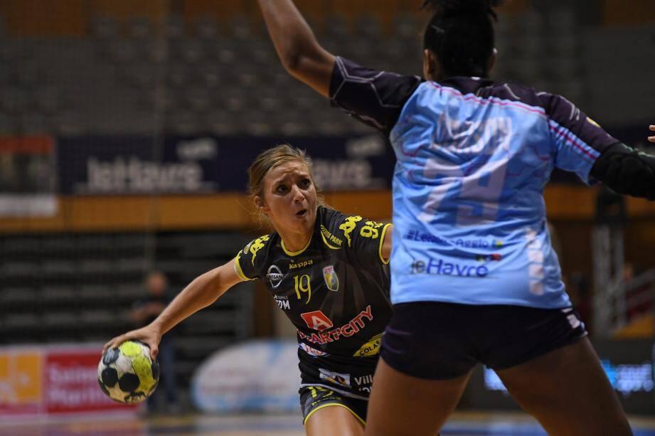 Laurène Catani a sorti une grosse prestation pour mener le TSCV vers une victoire très importante au Havre.