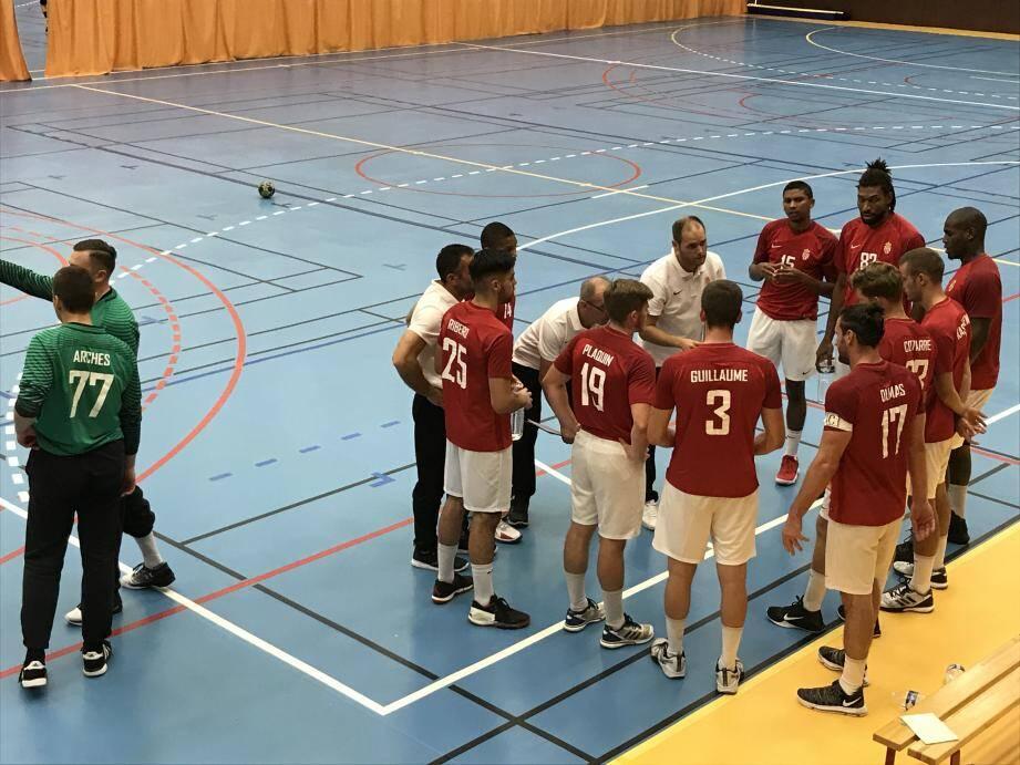 Le coach Mangematin a su trouver les bons mots pour que son équipe recolle au score et remporte la partie