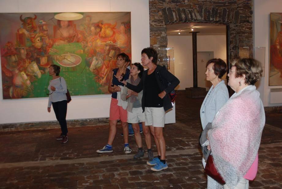 Le Centre d'Art Sébastien a déjà accueilli, hier, de nombreux visiteurs.
