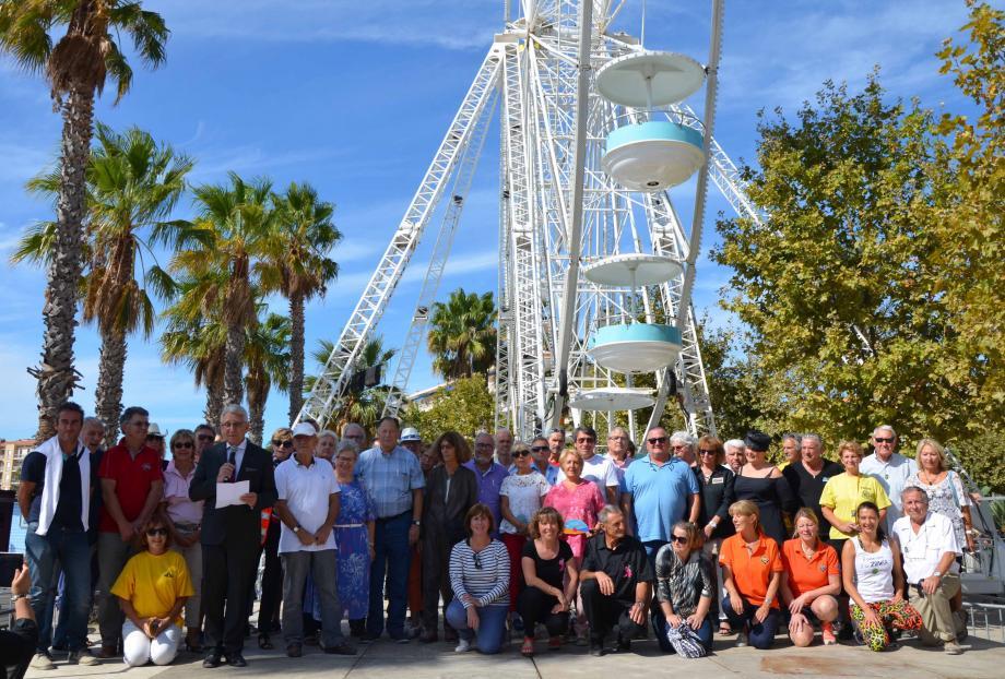 Gil Bernardi, maire du Lavandou, a tenu à remercier les bénévoles des différentes associations.