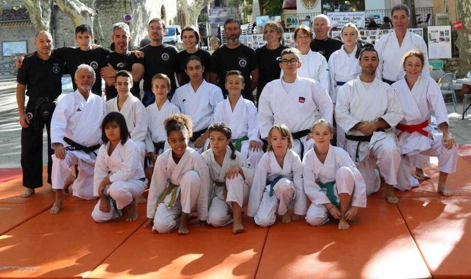 La grande famille des arts martiaux en démonstration. Tour à tour, les pratiquants de tout âge de judo, ju-jitsu, self-pro krav, self défense SPK, karaté ou de ju-jitsu brésilien ont été applaudis par le public, lors des démonstrations effectuées sur les trente-six mètres carré de tatami.