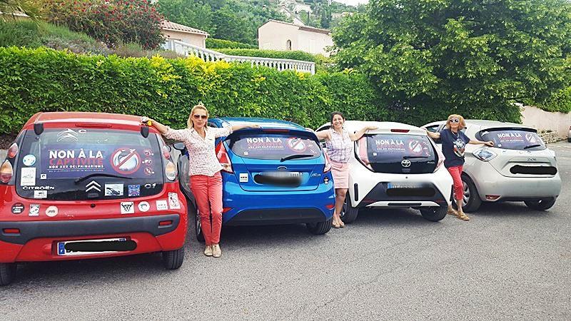 Les militants anti-captivité ont circulé tout l'été avec un message de sensibilisation sur leur véhicule. (DR)