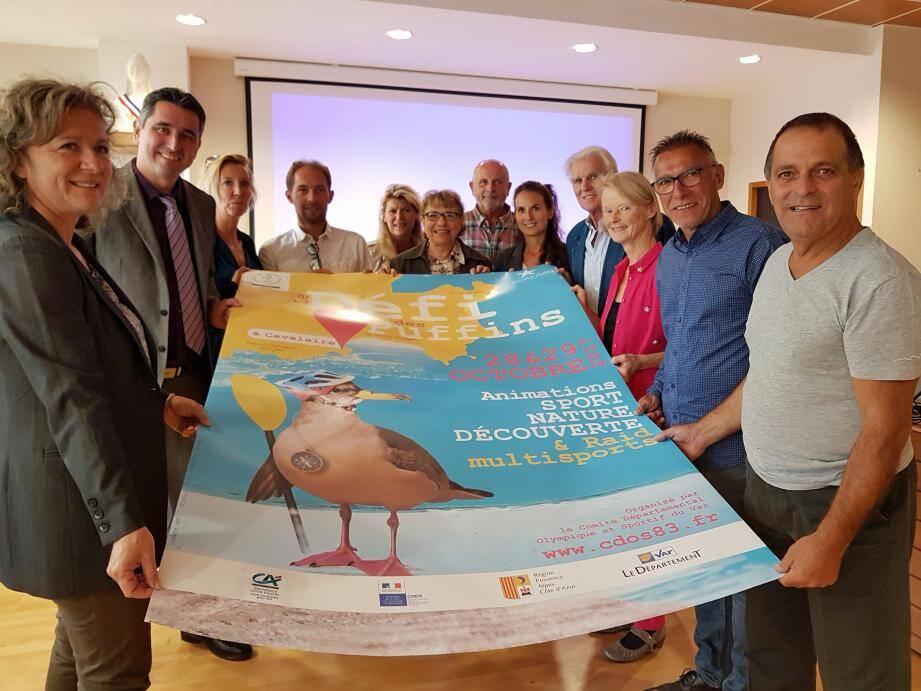 Les organisateurs du Défi des Puffins, lors de la réunion préparatoire.