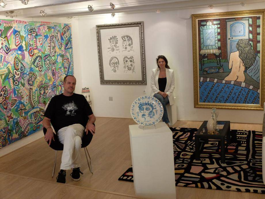 Paul Richard Mason (ici avec sa compagne la galiériste Alissia Noirez) invité d'honneur 2017.