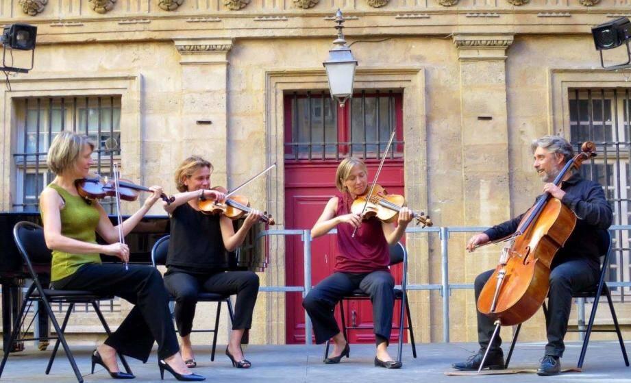 Le quatuor Darius à la chapelle Matisse samedi.(D.R.)
