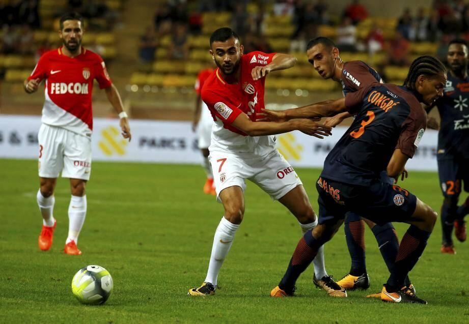 L'AS Monaco de Ghezzal et Moutinho a montré un visage peu séduisant face à Montpellier.
