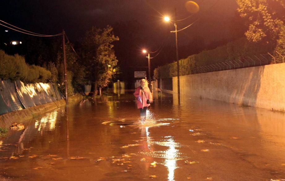 En octobre 2012, la ville de Biot était déjà noyée sous les eaux.