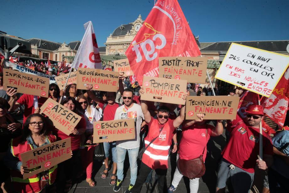 Des milliers de personnes se sont réunies à Nice ce mardi pour manifester contre la loi Travail.