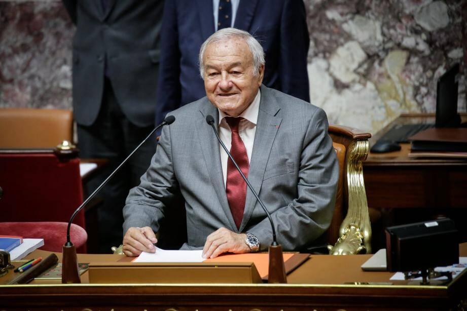 Bernard Brochand, lors de l'ouverture de la législature parlementaire à l'Assemblée nationale.