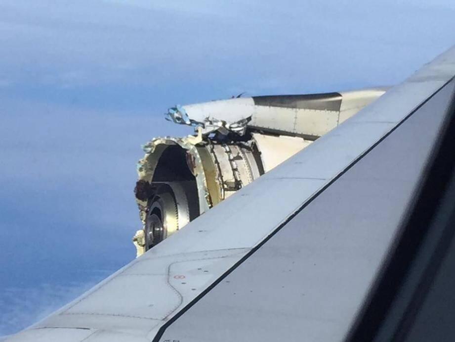 La photo de l'avarie prise par un passager.