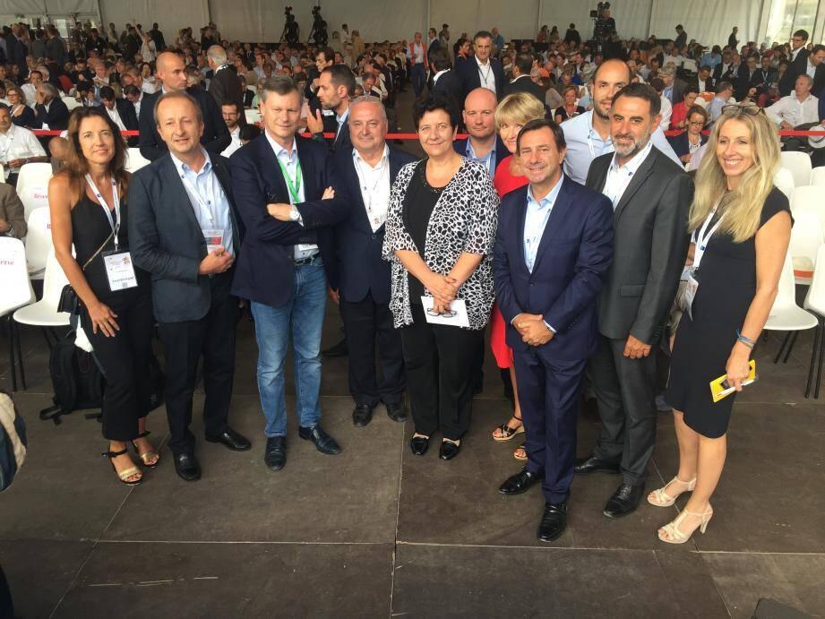 Après une rencontre privée avec Geoffroy Roux de Bézieux, la délégation azuréenne a assisté à la conférence sur l'emploi où intervenait Frédérique Vidal, l'ancienne présidente de l'université Nice Sophia devenue ministre. Entre soutien, encouragement et fierté azuréenne.