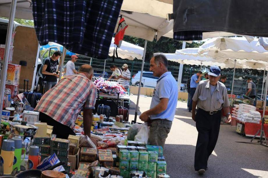 Le marché de l'Oued, à Nice.