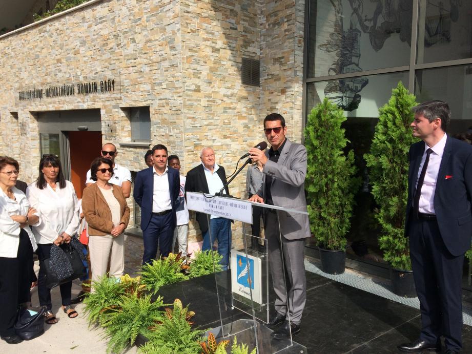 La médiathèque Romain-Gary a été inaugurée ce samedi matin.