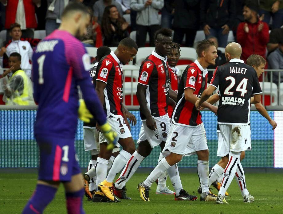 Après avoir écrasé Monaco (-), Plea, Balotelli, Saint-Maximin, Souquet, Jallet et les Niçois sont attendus en Belgique.