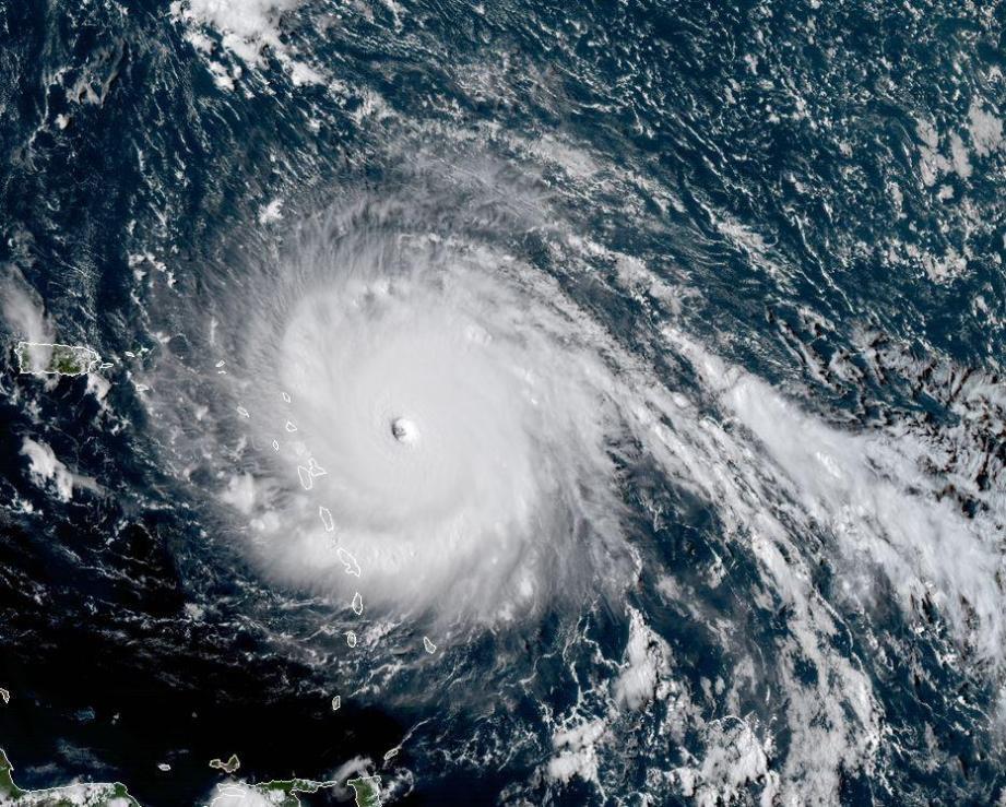 Une image satellite de l'ouragan Irma.