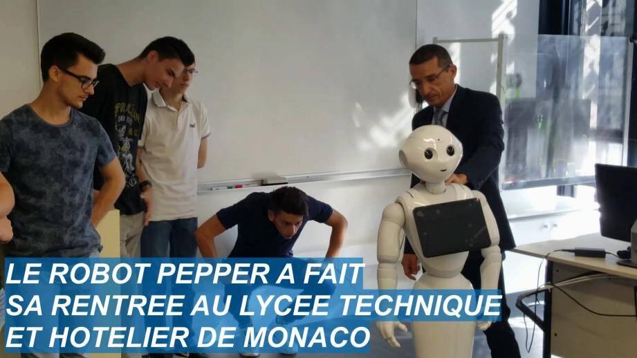 Le robot Pepper.