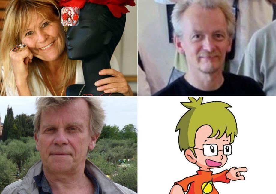 Corinne Reinsch, Christian Nicot, Hugues Poujade et la nouvelle mascotte Yanou Pilou de l'Unesco 06
