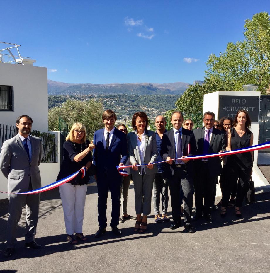 L'équipe du projet Belo Horizonte a inauguré le résultat de 3 ans de travail, au côté du sénateur Dominique Estrosi-Sassone.