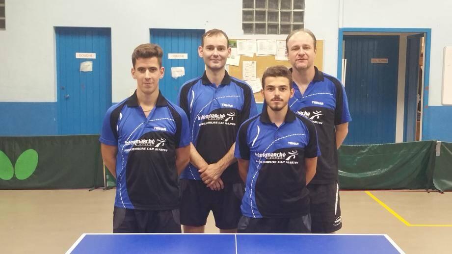 Guillaume Karboroski, Jean-Jacques Batfroi, Luca Carenso et Hervé Manfredi ont gagné leur première confrontation. (DR)