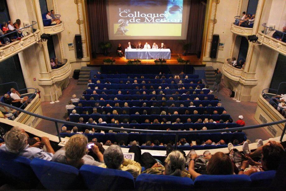 Les Colloques de Menton reviennent samedi après-midi au palais de l'Europe.