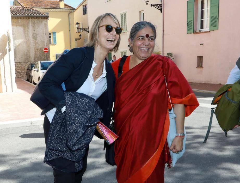 Hier à Mouans-Sartoux en compagnie de Françoise Nyssen, ministre de la Culture.